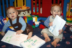 Alex (left) & Dom with Gifts