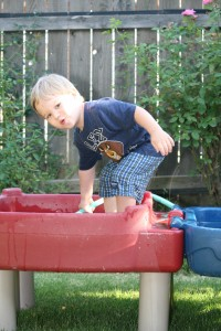 Alex on the water table