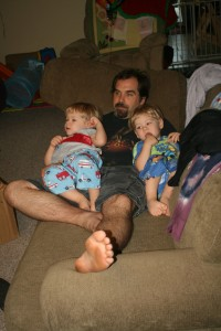 Alex (left) & Dom with Dad