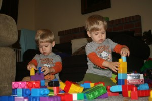 Dom and Alex building towers
