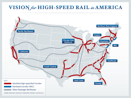 Proposed High Speed Rail Routes