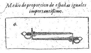 Setting the Measure of Proportion for two swords of equal length