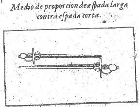 """Measure of proportion for a longer sword versus a shorter sword"" - Pacehco"