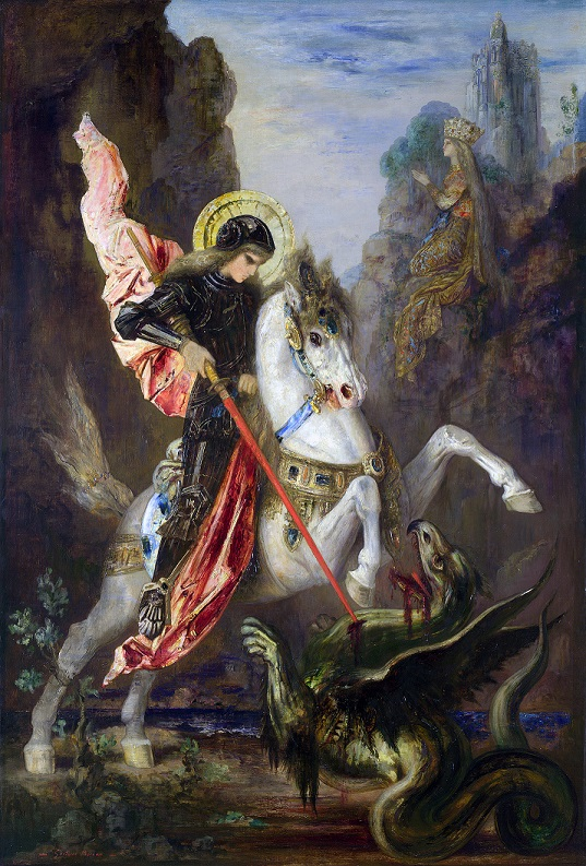 Full title: Saint George and the Dragon Artist: Gustave Moreau Date made: 1889-90 Source: http://www.nationalgalleryimages.co.uk/ Contact: picture.library@nationalgallery.co.uk Copyright © The National Gallery, London